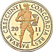 2 Ducat - Beatrix (Trade Coinage) – obverse