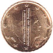 10 Euro Cent - Willem-Alexander (2nd map) – obverse