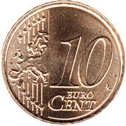 10 Euro Cent - Willem-Alexander (2nd map) – reverse