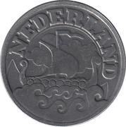 25 Cents - Wilhelmina (German Occupation) -  obverse