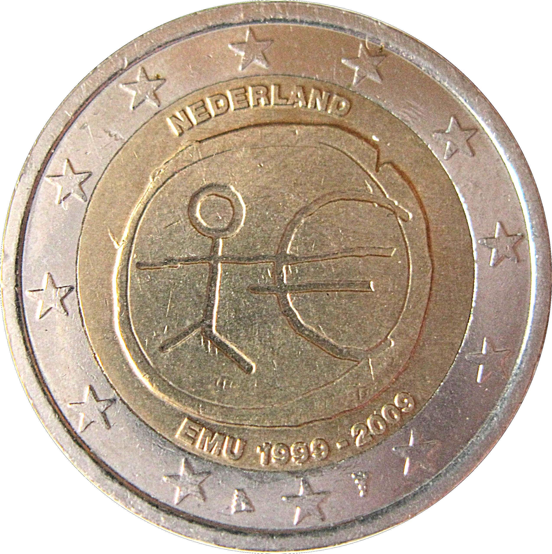 2 euro beatrix 10 years of emu netherlands numista