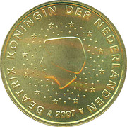 50 Euro Cent - Beatrix (2nd map) – obverse