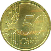 50 Euro Cent - Beatrix (2nd map) – reverse