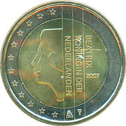 2 Euro - Beatrix (2nd map) – obverse