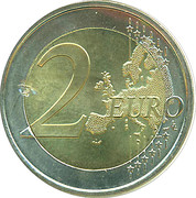 2 Euro - Beatrix (2nd map) – reverse