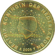 50 Euro Cent - Beatrix (1st map) – obverse