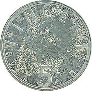 5 Euro - Beatrix (Vincent Van Gogh) – reverse