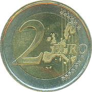 2 Euro - Beatrix (1st map) -  reverse