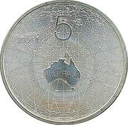 5 Euro - Beatrix (Friendship with Australia) – reverse