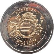 2 Euro - Beatrix (10 Years of Euro Cash) -  obverse