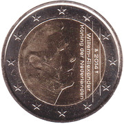2 Euro - Willem-Alexander (2nd map) -  obverse