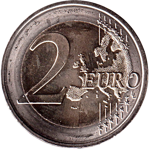 "France 2 euro 2015 /""Flag of Europe/"" BiMetallic UNC"