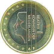 1 Euro - Beatrix (1st map) -  obverse