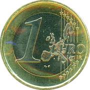 1 Euro - Beatrix (1st map) -  reverse