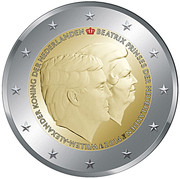 2 Euro - Willem-Alexander (Accession; Coloured) – obverse