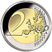 2 Euro - Willem-Alexander (Accession; Coloured) – reverse