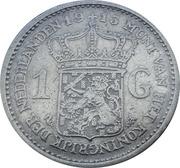 1 Gulden - Wilhelmina -  reverse