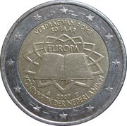 2 Euro - Beatrix (Treaty of Rome) -  obverse