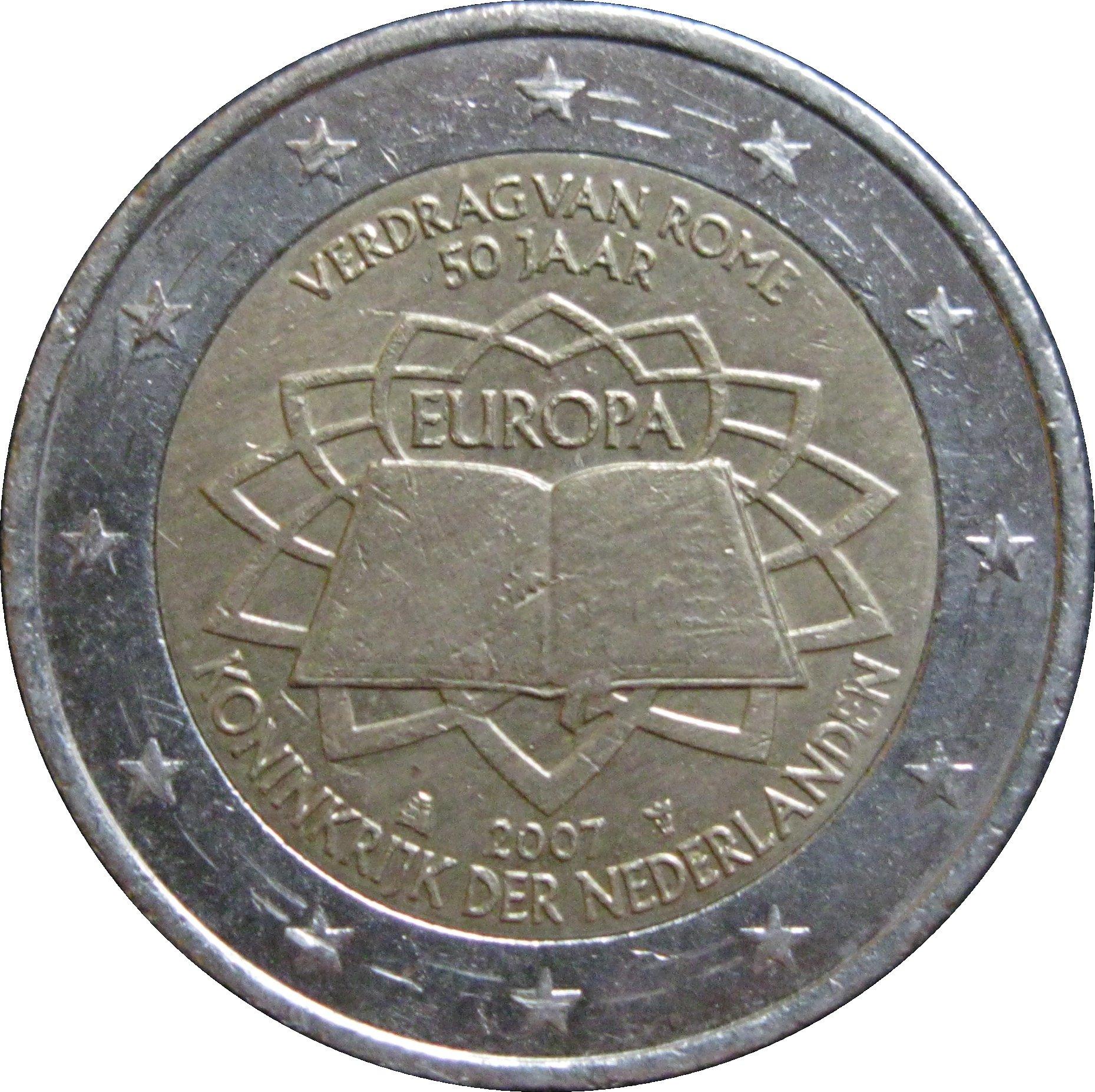 2 euro beatrix treaty of rome netherlands numista