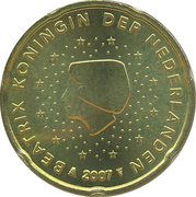 20 Euro Cent - Beatrix (2nd map) – obverse