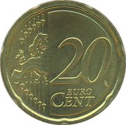 20 Euro Cent - Beatrix (2nd map) -  reverse