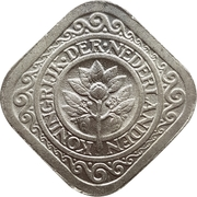 5 Cents - Wilhelmina – obverse