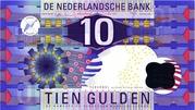 10 Gulden (IJsvogel) – obverse