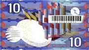 10 Gulden (IJsvogel) – reverse