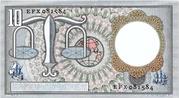 10 Gulden (Hugo de Groot) – reverse