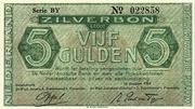 5 Gulden (Silver voucher) – obverse