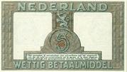 5 Gulden (Silver voucher) – reverse