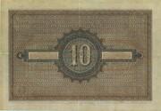 10 Gulden (Coin note) – reverse