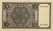 10 Gulden (Zeeuws meisje) – reverse