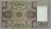 10 Gulden (Grijsaard) – reverse
