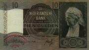 10 Gulden (Emma) – obverse