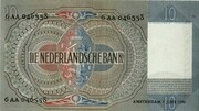 10 Gulden (Emma) – reverse