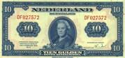 10 Gulden - Wilhelmina (1st portrait; Coin note) – obverse