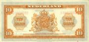 10 Gulden - Wilhelmina (1st portrait; Coin note) – reverse