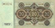 20 Gulden – reverse