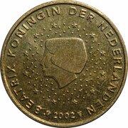 50 Euro Cent - Beatrix (1st map) -  obverse