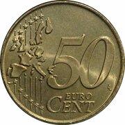 50 Euro Cent - Beatrix (1st map) -  reverse