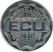 10 ECU - Beatrix (Geert Groote) -  obverse