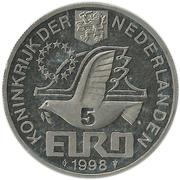 5 Euro - Beatrix (Maarten Harpertsz Tromp) -  obverse