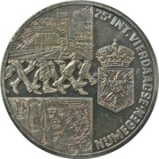 2½ ECU - Beatrix (75th Four-Day-March Nijmegen) -  reverse