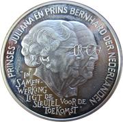 25 ECU - Beatrix (85th Birthday of Queen Mother) -  reverse