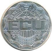 25 ECU - Beatrix (Christiaan and Constantijn Huygens) -  obverse