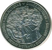 2½ ECU - Beatrix (Christiaan and Constantijn Huygens) -  reverse