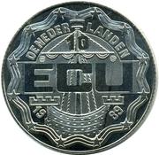 10 ECU - Beatrix (Christiaan and Constantijn Huygens) -  obverse