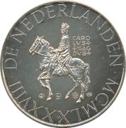 ECU - Beatrix (Carolus Magnus; 1 oz silver) -  obverse