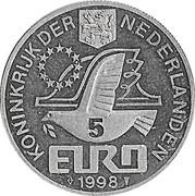 5 Euro - Beatrix (M.C. Escher) -  obverse